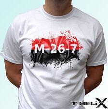 26th DE JULIO Movimiento M 26 7-Blanco Camiseta Revolución Top Diseño