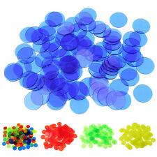 100x Plastic Poker Bingo Token Chips Kids Family Board Games Play Toys Gift