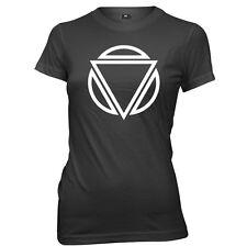 Triangle Art Circle Womens Ladies Funny T-Shirt