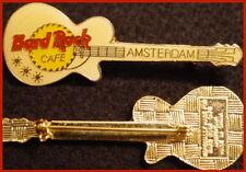 "Hard Rock Cafe AMSTERDAM ""PRE-CORP"" White LES PAUL Guitar 4LC PIN Catalog #16485"