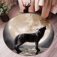 3D Wolf Moon 412 Non Slip Rug Mat Room Mat Round Quality Elegant Photo Carpet CA