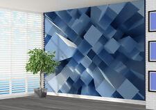 3D ASTRATTO BLU BLOCCHETTO Proroga da muro Carta da parati (17718868) 3D