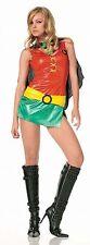 Robin the Boy Wonder from Batman Costume, Leg Avenue 83185, Women's Size S/M