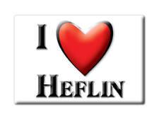 SOUVENIR USA - ALABAMA FRIDGE MAGNET AMERICA I LOVE HEFLIN (CLEBURNE COUNTY)