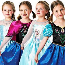 Disney Frozen Girls Fancy Dress Fairytale Princess Kids Childrens Costume Outfit