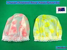 Womens New Waterproof Elastic Plastic Shower Bathing Cap - 2 Colours (C284)