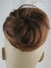 ginger brown fake pony tail bun elastic hair piece extension scrunchie