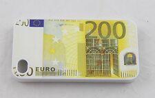 CUBIERTA IPHONE 4 4S 200 DOSCIENTOS EURO BLANCA PLÁSTICO
