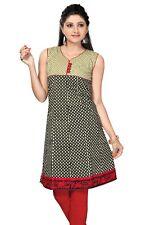 Indiano Pakistano Cotone Motivo Kurti Tunica per Donne 242 ( Bust It 86.4cm