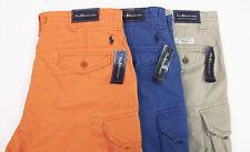 Polo Ralph Lauren Gellar Fatigue Cargo Shorts $75 Tan Orange RL Badge / Pony NWT
