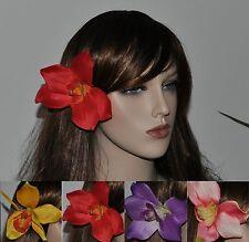 Orquídea COMO Enganche PELO FLORES pasador adorno para Cabello Hibisco HAWÁI 4