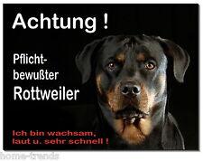 Rottweiler-Hund-Alu-Schild-15x10 oder 20x15 cm-Türschild-Warnschild-Hundeschild