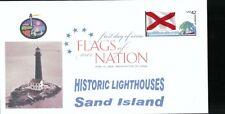 Flags of our Nation - Alabama (Sc. 4274) Sand Island Lighthouse