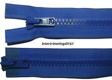 """YKK Cremallera Azul Marino 22/""""//56CM Grueso Dientes Plástico Dos Vías Abierto Extremo Numb 8 Resistente"""