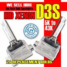 D3S BI XENON,GAS DISCHARGE BULBS QUARTZ GLASS PAIR 43k 5k 6k 8k 10k 12k UK STOCK