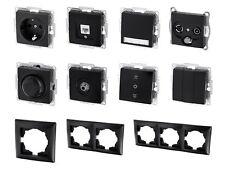 UP Schalterserie schwarz - Steckdose Taster Schalter Dimmer Dose Serie Programm