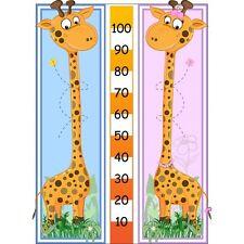 Sticker toise enfant mesure taille girafe mesure