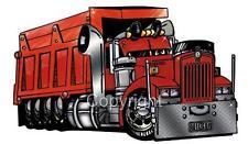 Dump Truck Hauler Kenworth Big Rig Cartoon T-Shirt #9066 automotive art
