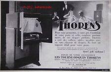 PUBLICITE THORENS TOURNE DISQUE MEUBLE TABLE CLASSEUR SIGNE E. MAURUS DE 1935 AD