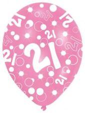 Paquet de 6 - Filles 21st Rose Ballons Fêtes Anniversaire Hall Décorations