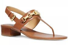 New Michael Kors charlton sandals Acorn almond toe chain link leather buckle