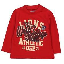 de manga larga Niños Camiseta westcollege Team Rojo BOBOLI TALLA 74 80 86 92 98