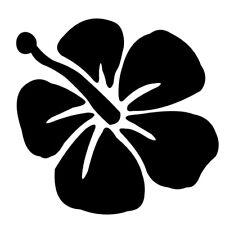 Sticker Fleur d'Hibiscus de 5x5cm à 30x30cm Tailles et Coloris Divers (FLEUR022)
