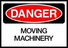 Moving Machinery Danger OSHA / ANSI Aluminum METAL Sign