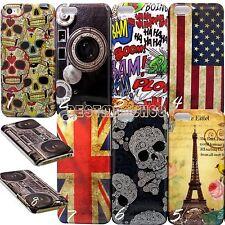 for iPhone 5c cute design UK US flag skull paris  case cover skin