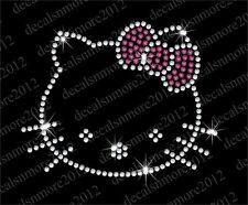"""Hello Kitty -Bow"" -  Bling Iron-on Rhinestone Transfer"