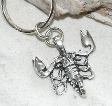 SCORPION SCORPIO Oct Nov Pewter KEYCHAIN Key Chain Ring