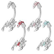 PIERCING OMBELICO Accessorio Piercing ombelico anello Skorpion con cristalli
