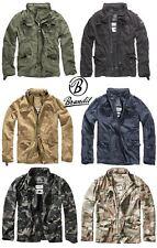Brandit Vintage Mens Military M65 Short Army Combat Light Field Jacket Parka