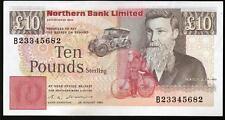 northern bank ltd belfast £10 Ten pounds real money 1988 1989 1990 1993 1996