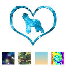 Heart Irish Water Spaniel Dog - Decal - Multiple Patterns & Sizes - ebn1471