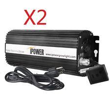 iPower 400 Watt Digital Dimmable Electronic Ballast for Hps Mh Grow Light 2-Pack