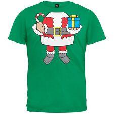 Santa Body Costume Green Adult Mens T-Shirt