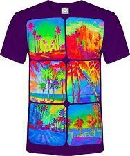 Palms Exotic Fruits Cars Square Circle Sun Fluorescent Blacklight UV Neon Tee