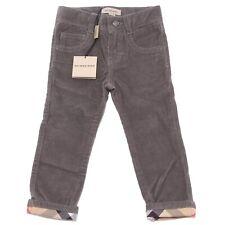 8001Q pantalone bimbo grigio BURBERRY  velluto trousers pants kids