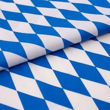 Stoff Meterware Bayern Raute Weiß Blau Baumwolle Landhaus Dekostoff Freistaat