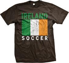 Ireland Soccer Distressed Flag Colors Irish Pride Shamrock Patrick Men's T-Shirt