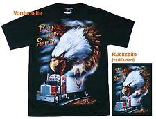 T-Shirt Weißkopf Adler+Truck,Gr.S,M,L,XL,Western Indianer Trucker Spirit Cowboy