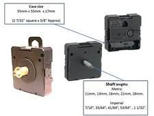 U.T.S. quartz clock movement, euroshaft fitting in 5 shaft lengths, U.K. seller