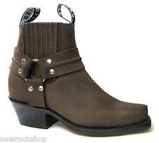 New Grinders Renegade Low Mens Brown Leather Biker Western Boots