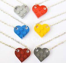 LEGO® LOVE HEART NECKLACE GIRLFRIEND BOYFRIEND BEST FRIEND FRIENDSHIP WIFE GIFT