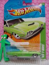 2011 Hot Wheels #6 Treasure Hunt '63 T-BIRD Reg ❊Green Ford Thunderbird ❊wl5sp