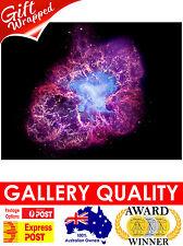 NEW Crab Nebula in Taurus, NASA Space, Hubble, Giclee Art Print or Canvas