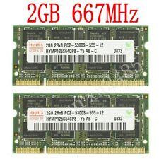 Pour Hynix 4Go 4GB (2x 2GB) / 1Go DDR2 667MHz PC2-5300S SODIMM Laptop mémoire FR