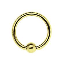 Piercing Gioielli anello di bloccaggio BCR dorato 1,2 Spessore da 7-12mm con