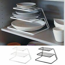 Rack Storage Shelf Kitchen Plate Dish Drying Holders Stainless Steel Organizer
